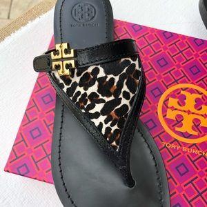 477a8b62f Tory Burch Shoes - Tory Burch Eloise Leopard Thong Sandals